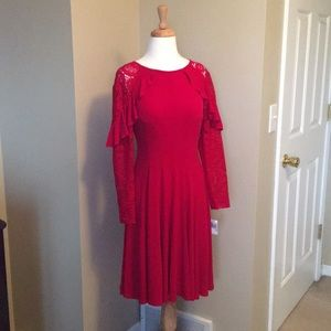 💃🏽 NWT RED DRESS RABBIT DESIGNS SIZE 10 COCKTAIL